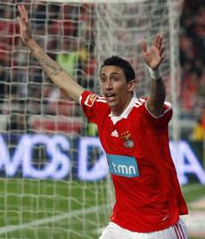 Ángel Di María, con el Benfica. Fuente: elconfidencial.com